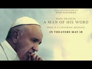 Den nye filmen om paven går nå på kinoer i USA.
