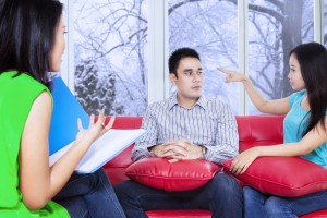 Psychologist giving solutions to patients